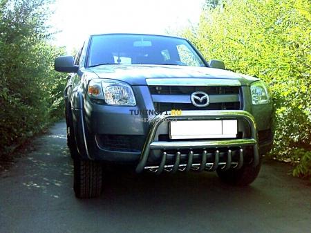 Mazda BT-50 2006-наст.вр.-Дуга передняя низкая d-60 с защитой картера d43
